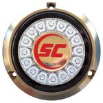 Shadow-Caster Cool Red Single Color Underwater Light - 16 LEDs - Bronze