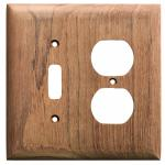 Whitecap Teak Toggle Switch/Duplex/Receptacle Cover Plate