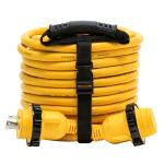 Camco 30 Amp Power Grip Marine Extension Cord - 50' M-Locking/F-Locking Adapter