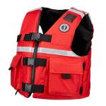 Mustang SAR Vest w/SOLAS Reflective Tape - Small - Red