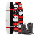Hyperlite Motive Wakeboard 140 cm w/Frequency Boot - 2020 Edition - Black/Red