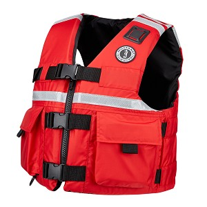 Mustang SAR Vest w/SOLAS Reflective Tape - Large - Red