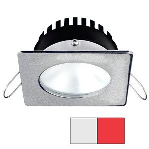 i2Systems Apeiron PRO A506 - 6W Spring Mount Light - Square/Round - Cool White & Red - Brushed Nickel Finish