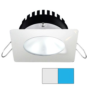 i2Systems Apeiron PRO A506 - 6W Spring Mount Light - Square/Round - Cool White & Blue - White Finish