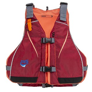 MTI Moxie Women's Life Jacket - Merlot/Coral - Medium/Large