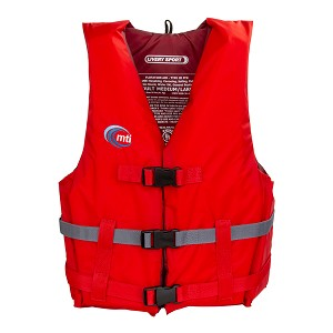 MTI Livery Sport Life Jacket - Red/Dark Gray - X-Large/XX-Large