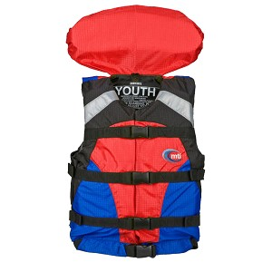 MTI Youth Canyon V Rafting Life Jacket - Blue/Red