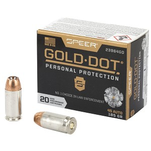 Spr Gold Dot 45acp 185gr Hp 20/200