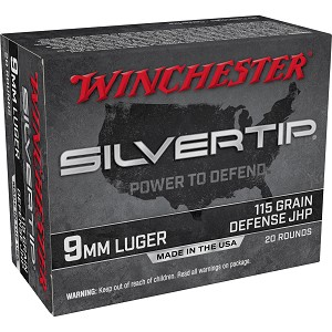 Win Silvertip 9mm 115gr Hp 20/200